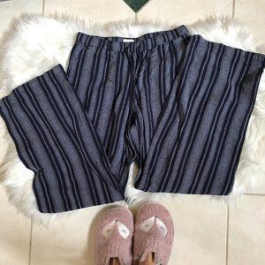 Merona Navy Striped Flowy Pants